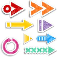 scribbled arrow designs  vector