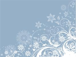 Decorative floral winter background