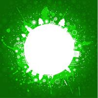 Fondo de Navidad grunge verde