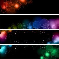 Bokeh light effect banners vector