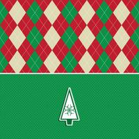 christmas tree argyle pattern background  vector