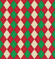 Christmas argyle pattern vector