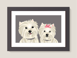 Yorkshire Terrier Dog Family Portrait