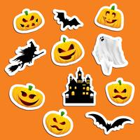 Stickers d'Halloween vecteur