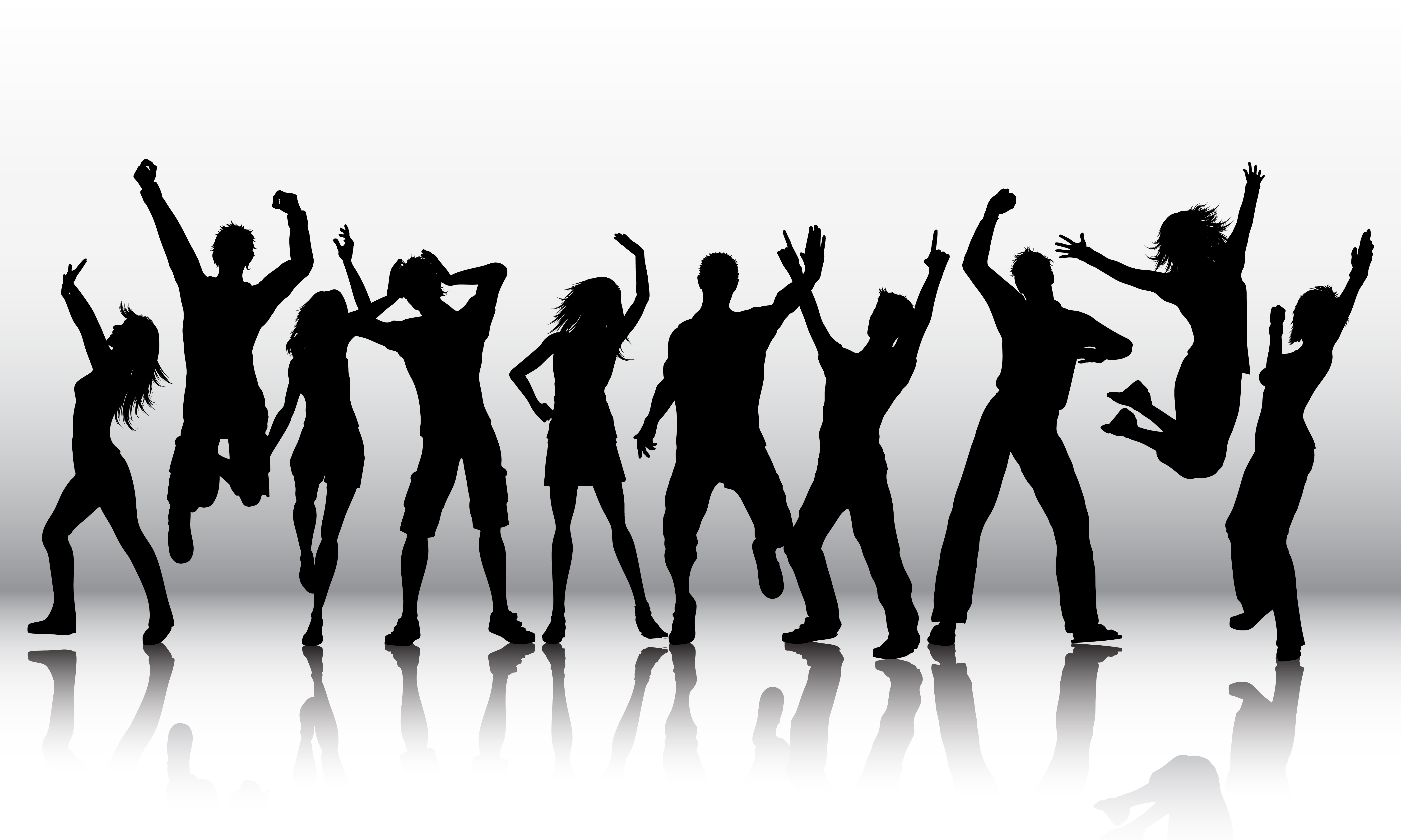 Silhouettes Of People Dancing Download Free Vectors Clipart Graphics Vector Art