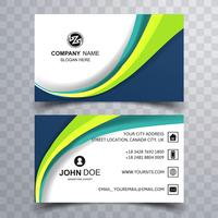 Beautiful wave business card template background