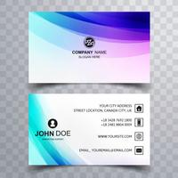 Beautiful colorful business card design