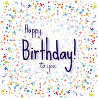 Moderne Happy Birthday kleurrijke confetti achtergrond