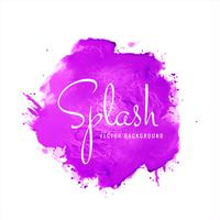 Splash of purple watercolor vector background