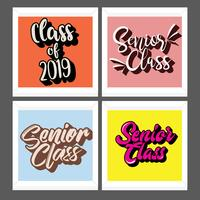 Senior klass typografi Vector Pack