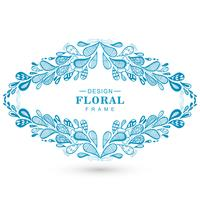 Beautiful floral decorative frame background