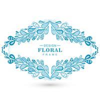 Vacker blommig dekorativ ram bakgrund