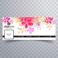 Vector de plantilla de cubierta de línea de tiempo de facebook elegante