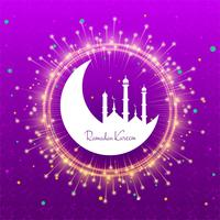Elegant ramadan kareem card shiny background