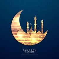 Ramadan Kareem religious background vector