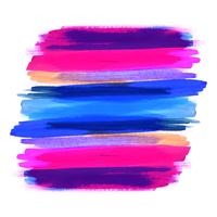 Hand draw colorful watercolor stroke design background vector