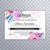 Modern beautiful certificate design template