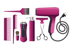 Beautiful Salon Equipment for Hairdresser vector