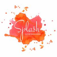 Beautiful colorful watercolor splash vector illustration
