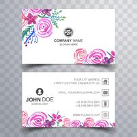 Modern colorful business card template