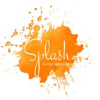 Dessin abstrait abstrait orange aquarelle splash
