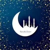 Ramadan Kareem elegant card background vector