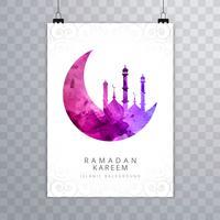 Design de brochura de cartão elegante Ramadan Kareem