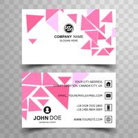 Diseño elegante plantilla de tarjeta de visita