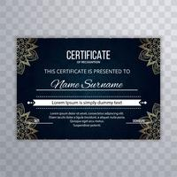 Beautiful decorative floral certificate design