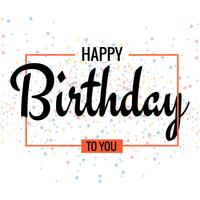 Happy Birthday. Beautiful greeting card poster design vector