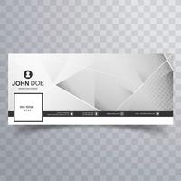 Modern facebook template polygon banner
