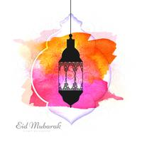 Elegant Eid Mubarak colorful background vector