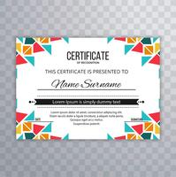 Modern colorful creative certificate template vector