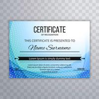 Abstract blue certificate template background