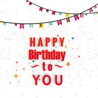 Tarjeta de cumpleaños decorativa feliz cumpleaños vector de fondo