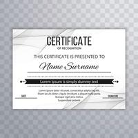 Modern certificate template background