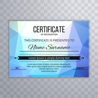 Beautiful colorful polygon certificate template design
