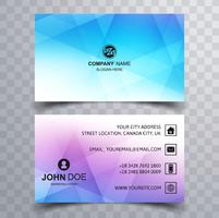 Beautiful colorful business card template