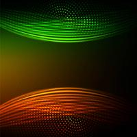 Abstract bright colorful elegant wave background