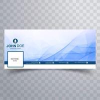 Modern facebook timeline banner wave template