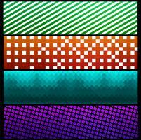 Moderna kolvaktiga mönster banners uppsättning