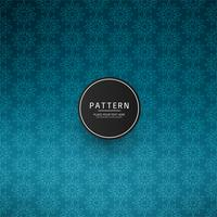 Abstract blue vintage floral pattern background vector