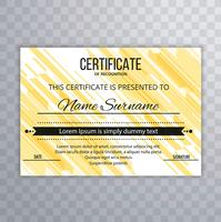 Abstract certificate template background