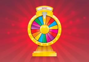 Spinning Wheel Fortune Illustration