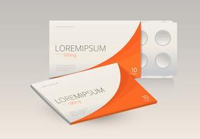 Modelo de medicamento caixa de comprimidos
