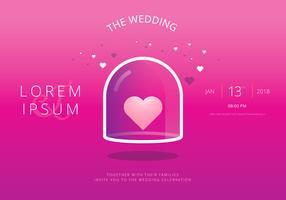 Spara datumet, bröllopsinbjudningsmall