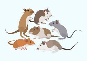 Collezione di mouse roditori vettoriale