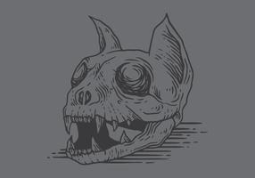 vector de cráneo de gato