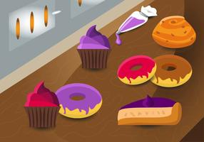 Brioche Bakery Food Vector Pattern