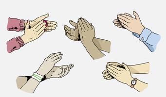 Hand Clapping Pose Hand Drawn vector Illustration